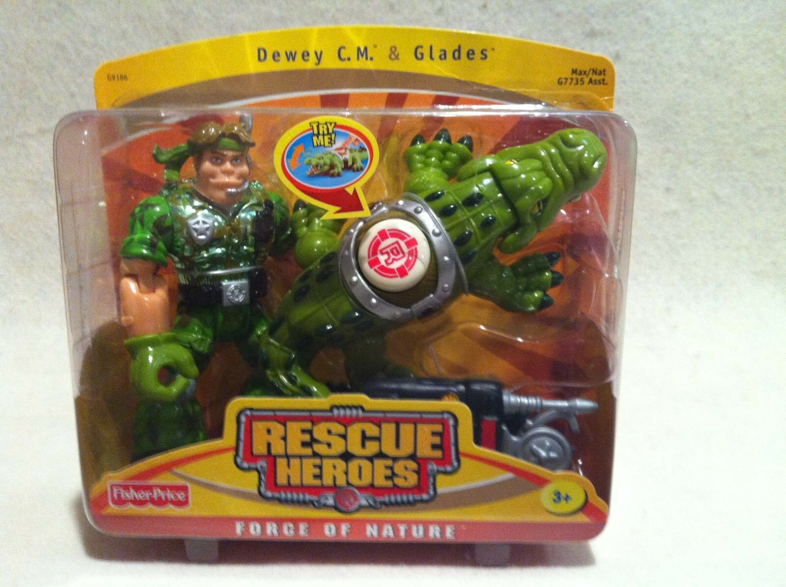 Rescue Rescue Rescue Heroes Force of  Nature  Dewey C.M. & Glades   FACTORY SEALED  8ee25d