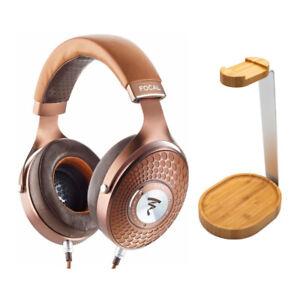 Focal Stellia Circum-Aural Headphones bundle with Knox Gear Wooden Stand