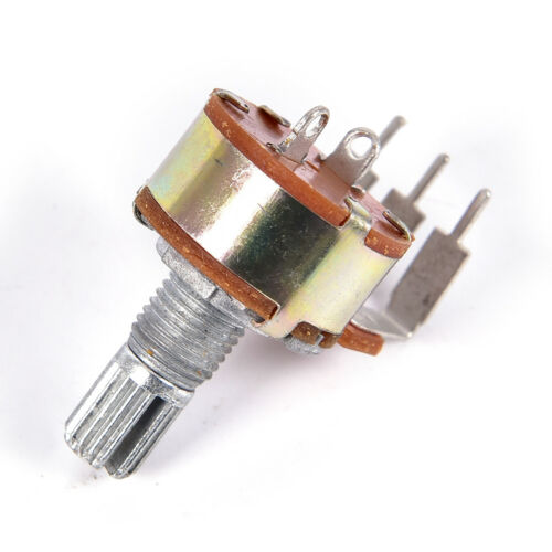 5PCS WH148 Single Potentiometer 500K Potentiometer With Fine B500K Switch Pin E/&