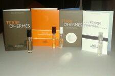 4 Hermes Men's Cologne Samples Lot Terre D'Hermes Voyage Eau de Mandarine Ambree