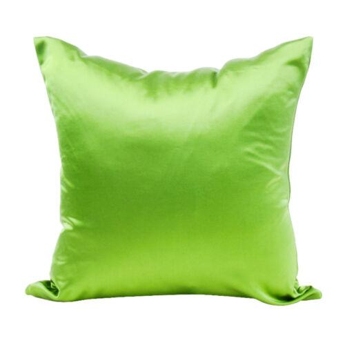 Solid Silk Satin Pillow Case Bedding Pillowcase Smooth Home NEW