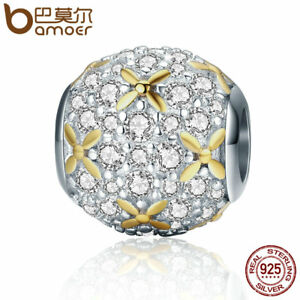Bamoer-European-925-Silver-charm-of-light-With-clear-cz-Fit-Bracelets-Jewelry