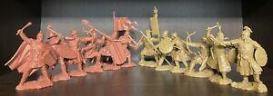 Publius mongol GUERRIERS RUSSES et chevaliers rouge-beige 1:32