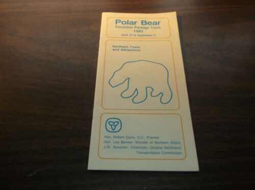 1983 ONTARIO NORTHLAND POLAR BEAR EXCURSION PACKAGE TOURS BROCHURE