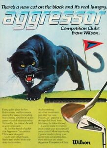 1981-Wilson-Panther-Golf-Club-Original-Vintage-Advertisement-Print-Ad-J901