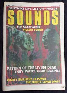 Sounds Magazine March 6 1986 Go-Betweens Violent Femmes Mighty Lemon Drops