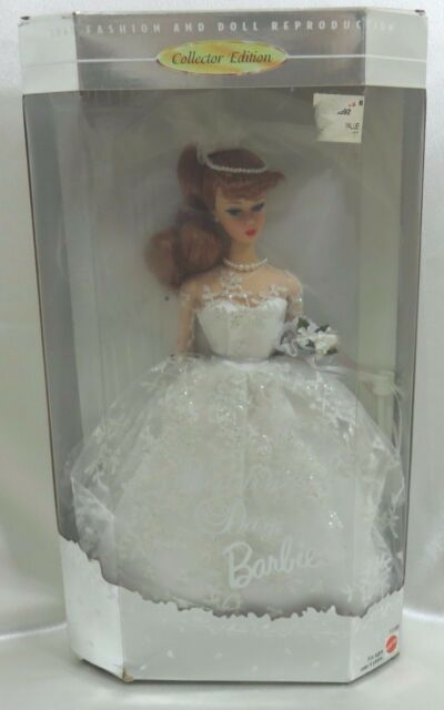 Barbie Doll Collector Wedding Day 1961 Fashion Doll Never Removed From Box 1996