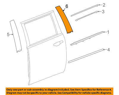 GM OEM Exterior-Rear-Applique Window Trim Left 84263150