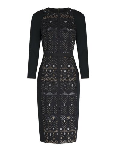 TED BAKER Mileae Deco Sparkle Jacquard Dress Size  4-14 New  Tags