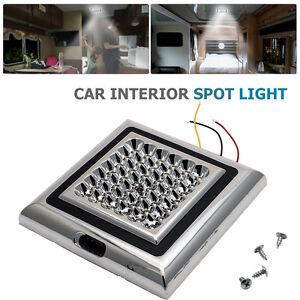 12V-42-LED-Interior-Ceiling-Cabin-Spot-Light-For-Caravan-Camper-Boat-Light-AU