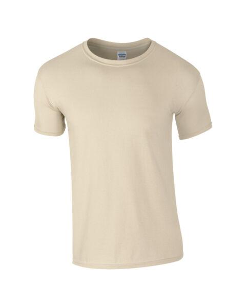 Avoir Un Esprit De Recherche Gildan Softstyle Col Ras Du Cou Plain T-shirt Homme 100% Coton-casual Adulte Top Sable