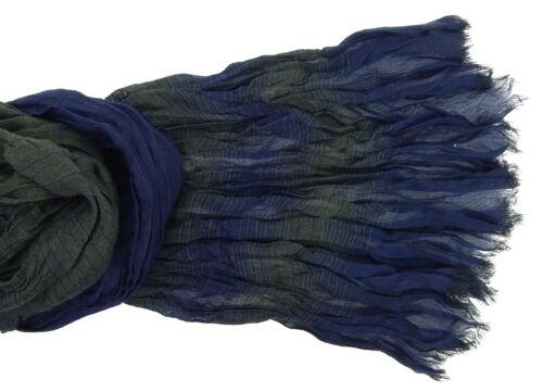 Men/'s Scarf Blue Green Striped by Ella Jonte Scarf Viscose New Arrival
