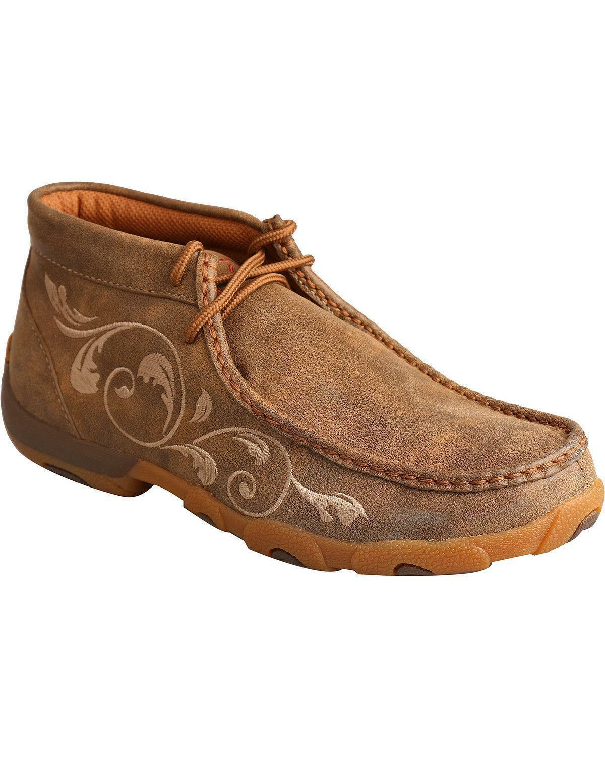 Twisted X Women's Embroidered Lace-Up Driving Driving Driving Mocs - WDM0041 a665d3