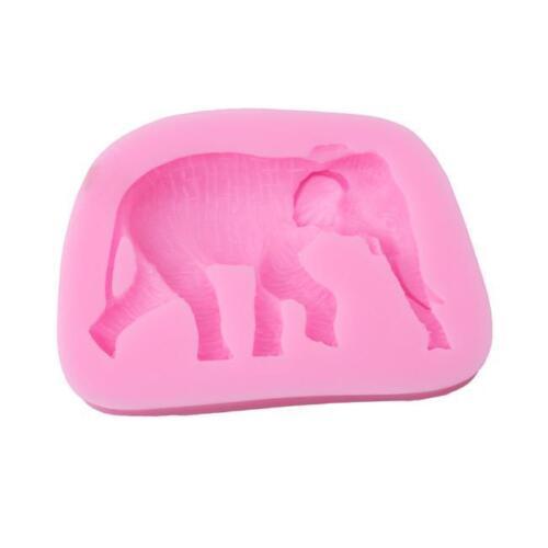 3D Elephant Silicone Mold Chocolate Mould Fondant Cake Decoration Baking Tool J