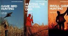 3 BOOKS SMALL GAME WHITETAIL DEER GAME BIRD HUNTING RICE DAHL TINSLEY ORMOND