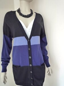 Cardigan Taglia Black lunghezza Longer Cole Blue Kenneth M W7B4SYxX