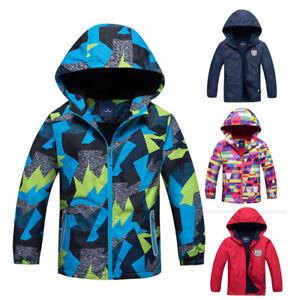 6451ec9b4 Boys Polar Fleece Ski Snow Winter Jacket Kids Coats Children Wind ...