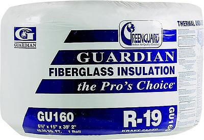 """NEW ROLL OF GU160 R19 HOUSE INSULATION 6-1//2/"""" x 15/"""" x 39/' 2/"""" 48.96 SQ FT SALE"""