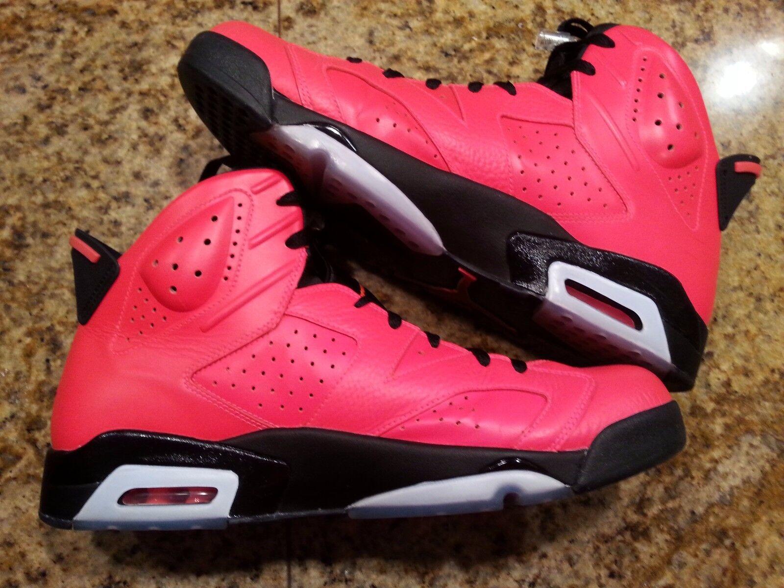7554b5913302f6 2014 Nike Air Jordan 6 VI Retro Infrared 23 23 23 Size 14. 384664 ...