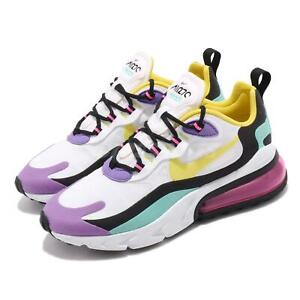 Details about Nike Air Max 270 React White Yellow Black Purple Womens Running Shoes AT6174 101
