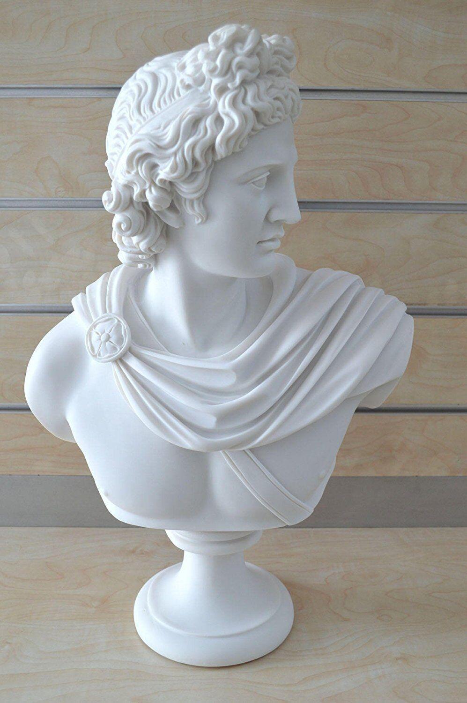 Dios Apolo X-Large Busto Escultura Antiguo Griego Dios del Sol y poesía Estatua