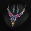 Fashion-Boho-Crystal-Pendant-Choker-Chain-Statement-Necklace-Earrings-Jewelry thumbnail 123
