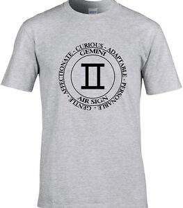 Men/'s Astrology Horoscope Star Signs Zodiac Symbols Printed V-Neck T-Shirt Top