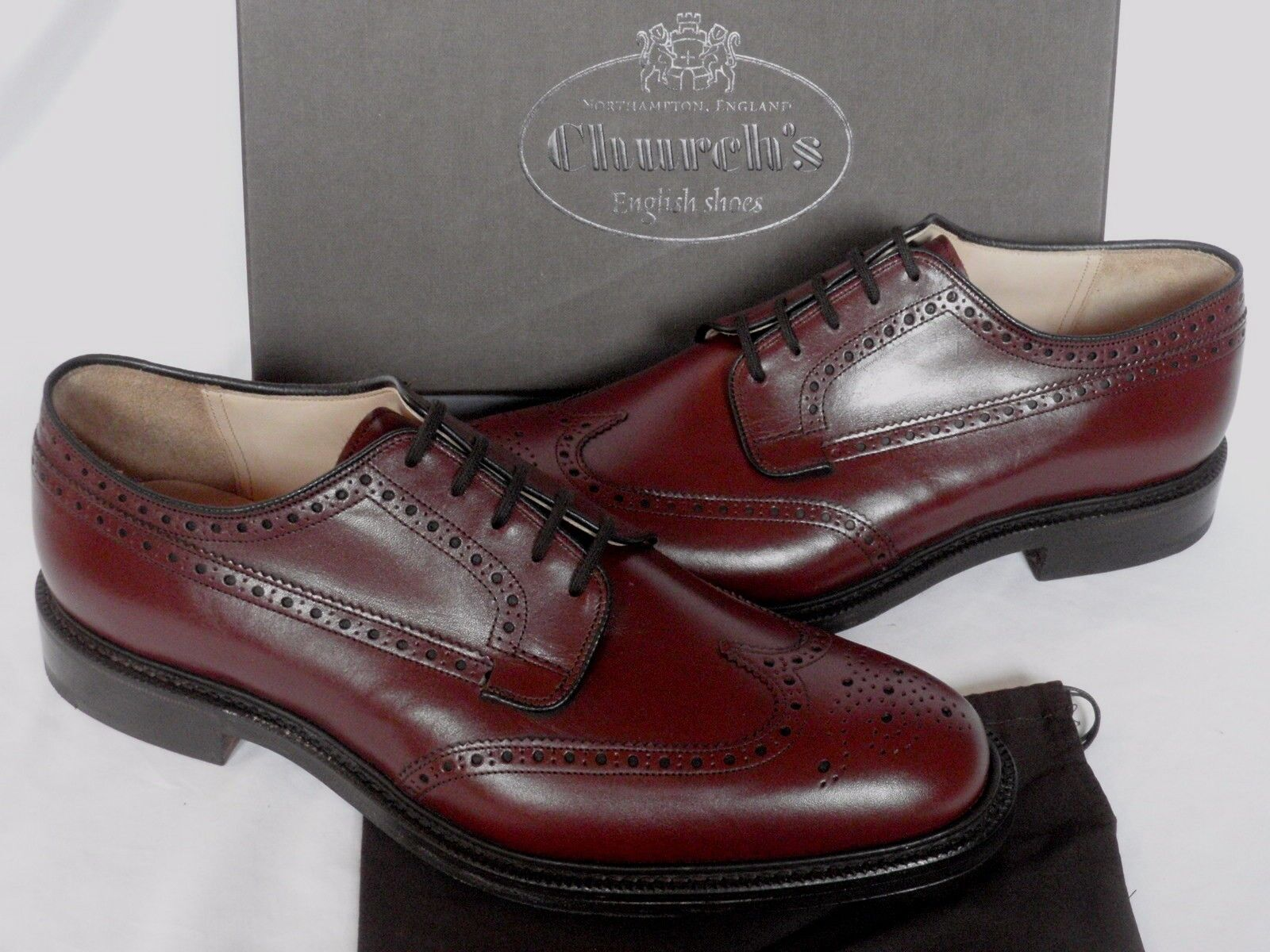 NEW & BOXED Church's en cuir marron  BROOKLAND  Souliers brogues derby chaussures UK 10 G