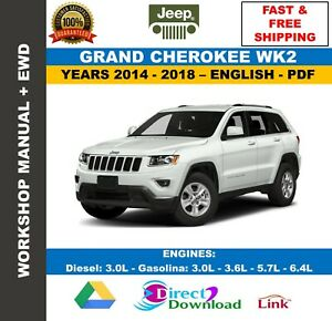 Workshop Manual Jeep Grand Cherokee Wk2 2014 2018 Wiring Diagrams Ebay