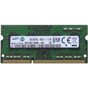 Samsung 1 35v Ddr3 Low Voltage 4gb Pc3 12800 1600 Mhz Laptop Sodimm