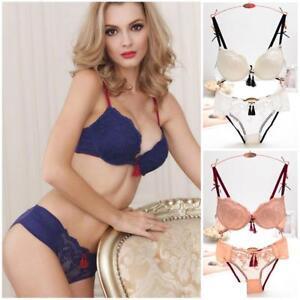 b8e177e94 Women Sexy Lace Embroidery Bra Set Bra + Briefs Panties Underwear ...
