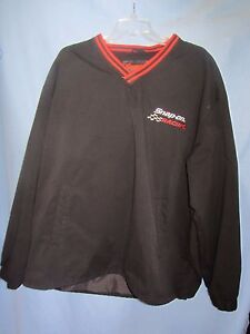 Snap-On-Racing-v-neck-pullover-windshirt-100-polyester-sz-XL-sewn-logos-NASCAR