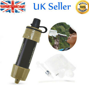 5 in 1 Survival Gravity Water Filter Straw Set 3500 Litres Camping Emergency