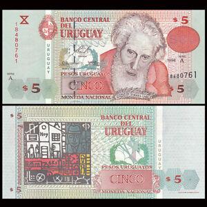 Uruguay P-80 5 Pesos Year 1998 Uncirculated Banknote