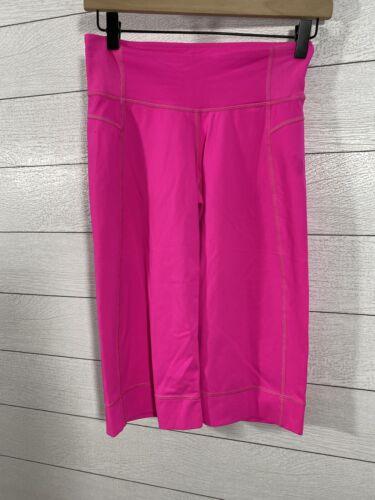 Lululemon Capri Flare Wide Leg Yoga Pants Hot Pink