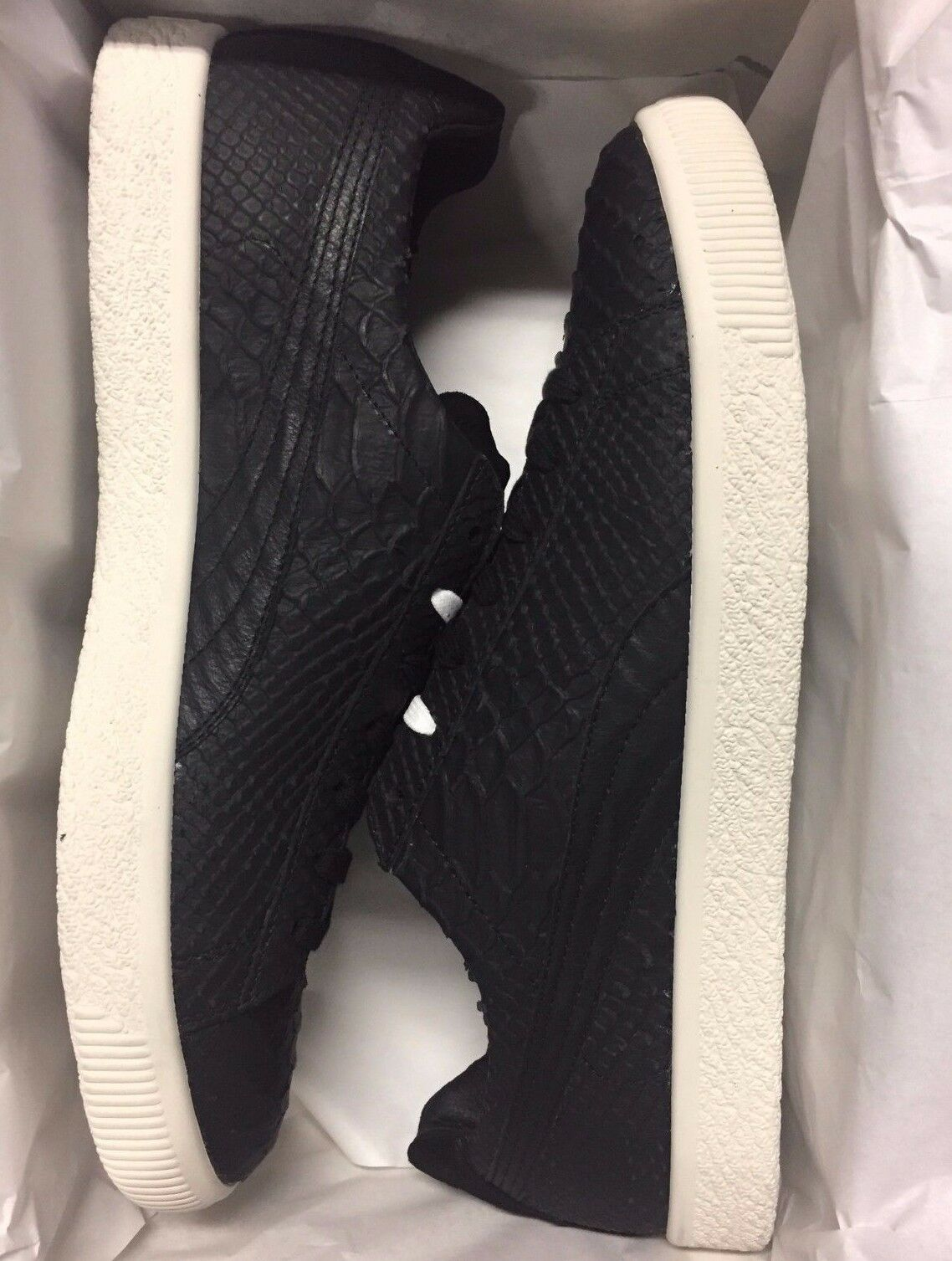 Puma Clyde MII Made in Italy Black Leather 361503 01 Black Star White 9 12