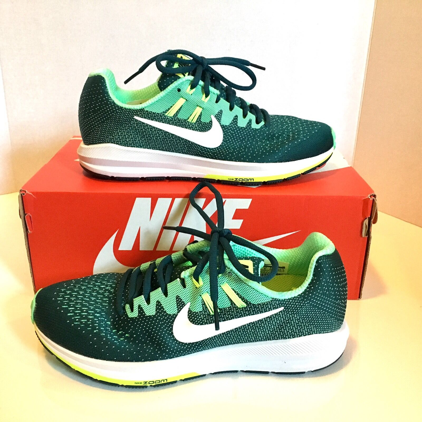 WMNS NIKE 849577 AIR ZOOM STRUCTURE STRUCTURE STRUCTURE Runfast Green, Teal & Mint RUNNING SHOES 7.5 8bb040