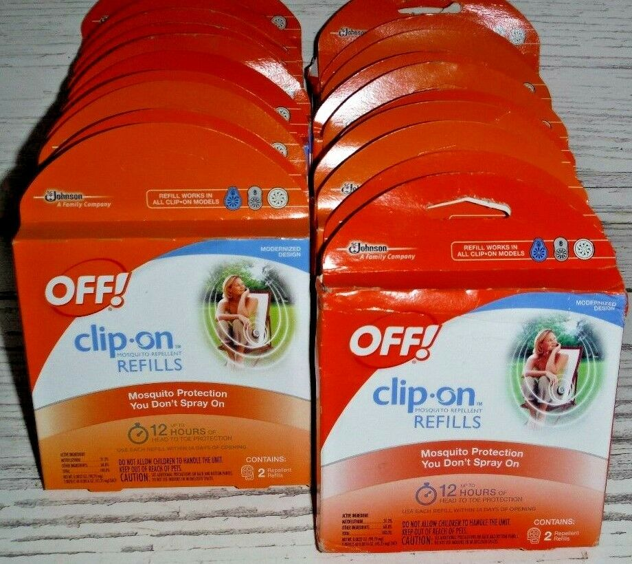 48 OFF Clip-On 12 Hour Mosquito Bug Repellent Refills & Clip-on