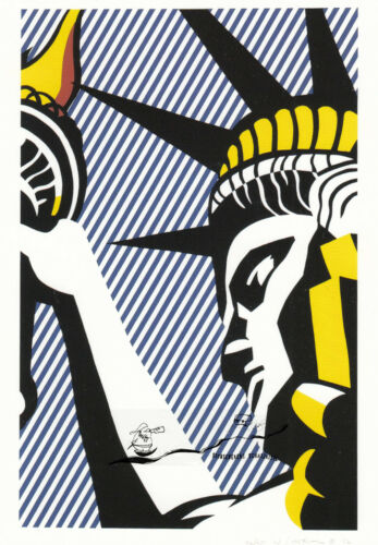 Postcard Art Postkarte I love Liberty Roy Lichtenstein