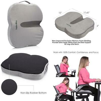 Posture Cushion Coccyx Comfort Seat Wedge Cushion with Soft Memory Foam Insert