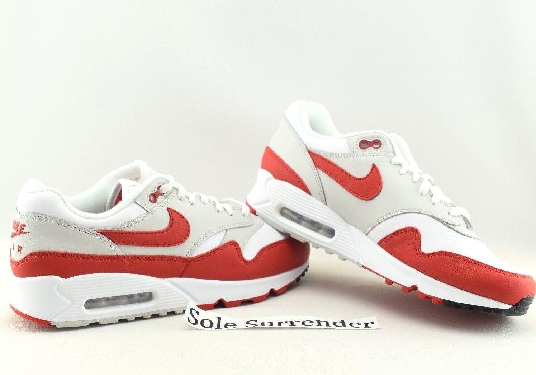 Nike Air Max 90/1 - SIZE 9 - AJ7695-100 OG University Red 90 1 Retro Grey White
