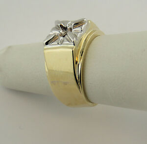 1Ct-Men-039-s-Solitaire-Ring-Mounting-14K-Yellow-Gold-For-6-5-mm-Round-Diamond