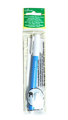 Clover Thick Water Soluble Marker Haberdashery Craft Fabric Marker Sewing Supply