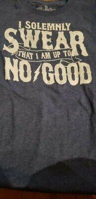 New Boys Medium 8 Harry Potter T-Shirt I Solemnly Swear That I Am Up To No Good