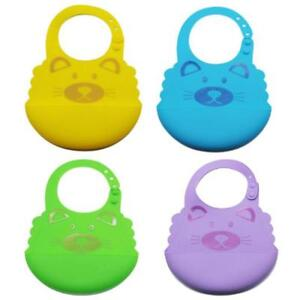 Waterproof-Comfortable-Soft-Baby-Bib-Easily-Wipes-Clean-Silicone-Feeding-Bibs-Q