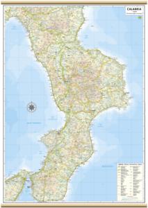 CALABRIA CARTA REGIONALE MURALE [61X88 CM] [MAPPA/CARTINA] BELLETTI