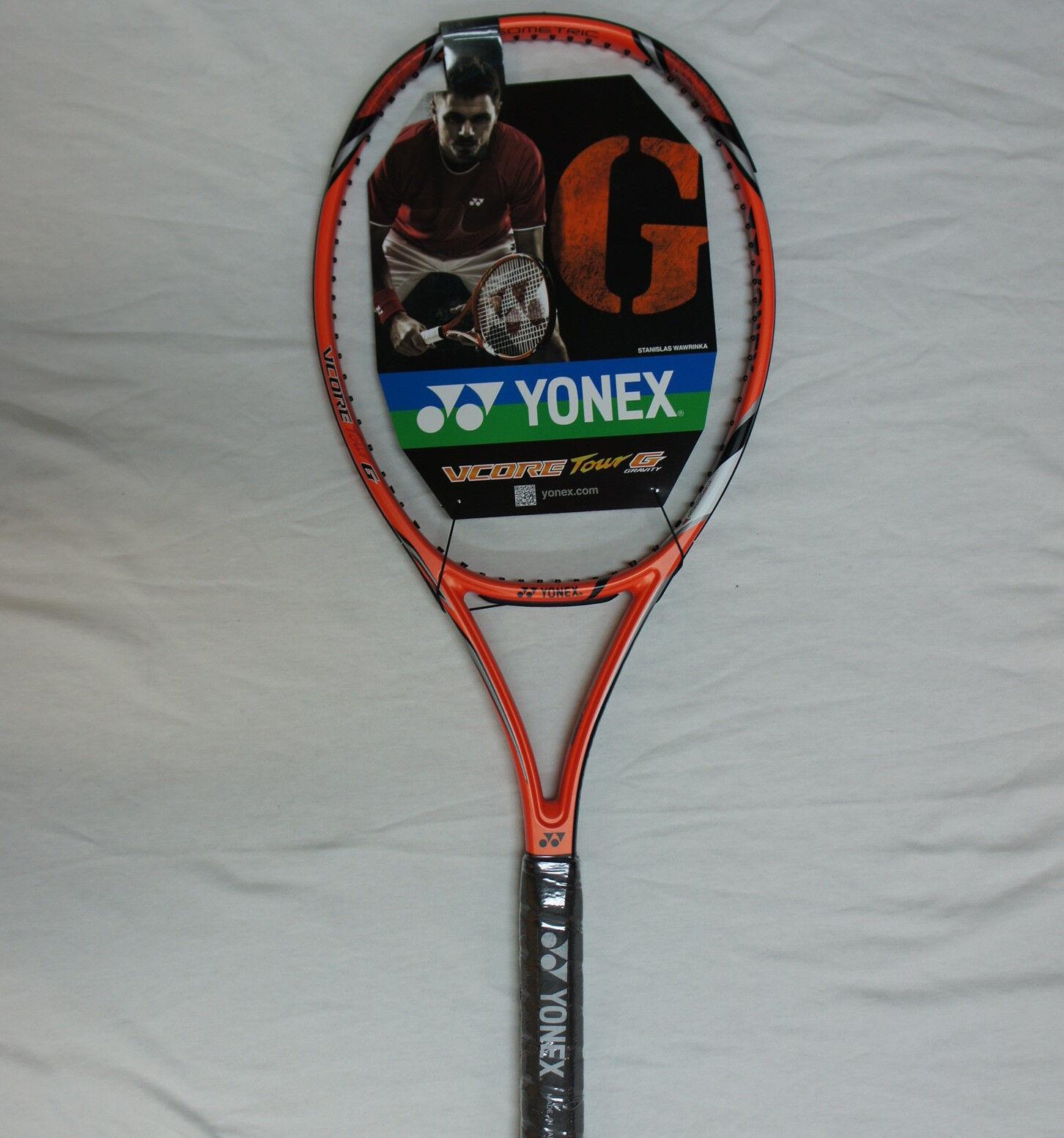 Yonex Tennis Racquet VCORE Tour G, G2, Hard-Hitting w Max Control & Spin, Strung