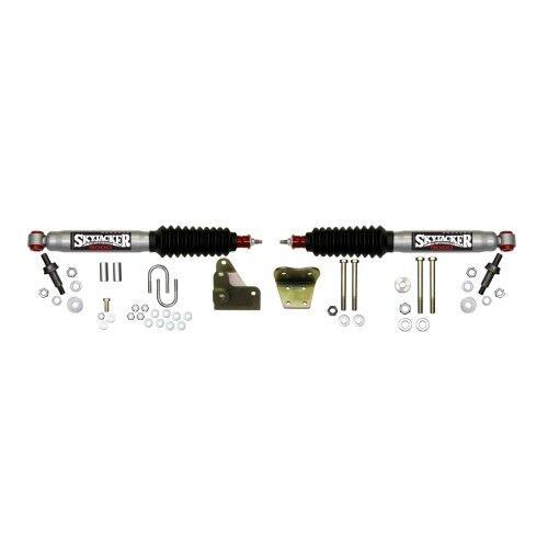 Skyjacker 9297 Steering Stabilizer Dual Kit Silver w//Black Boots