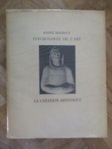 PSYCHOLOGIE-DE-L-039-ART-LA-CREATION-ARTISTIQUE-ANDRE-MALRAUX-1948-D34
