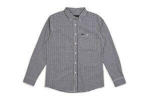 NWT-Brixton-Howl-Woven-Button-Down-Shirt-L-S-Mens-M-Medium-Navy-BX134